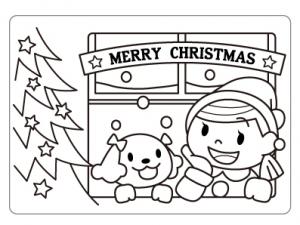 ぬりえ_クリスマス001
