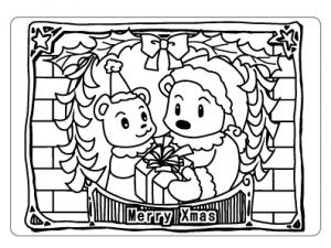 ぬりえ_クリスマス002