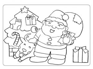 ぬりえ_クリスマス003