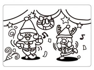 ぬりえ_クリスマス004