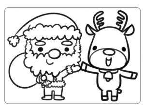 ぬりえ_クリスマス005