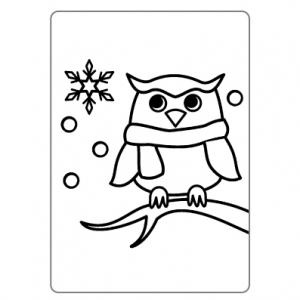 ぬりえ-冬002