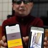 視覚障害者専門のソフト開発業者が作ったスマートフォンアプリ「歩行レコーダー」=豊岡市日高町江原 (神戸新聞)